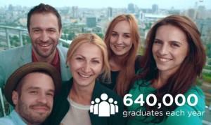 640,000 graduates